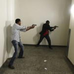 Armed police search Westgate Shopping Centre in Nairobi