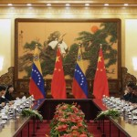 Chinese President Xi Jinping meets with Venezuela's President Nicolas Maduro in the Great Hall of the People in Beijing