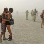 A couple kisses at Burning Man. (Andy Barron/The Reno Gazette-Journal)