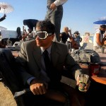 "A ""Mobile Board Room"" moves along the playa. (Andy Barron/Reno Gazette-Journal)"