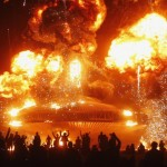 The Man burns during Burning Man 2013 arts and music festival in the Black Rock Desert of Nevada