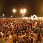Participants dance during the Burning Man 2013 arts and music festival in the Black Rock Desert of Nevada