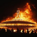 The Man burns during the Burning Man 2013 arts and music festival in the Black Rock Desert of Nevada