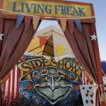 """A """"Freak Show"""" art installation is seen at the 2013 Burning Man arts and music festival in the Black Rock desert of Nevada"""