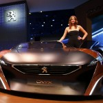Peugeot Onyx concept car is pictured during a media preview day at the Frankfurt Motor Show