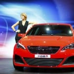 A Peugeot 308 R car is pictured during a media preview day at the Frankfurt Motor Show