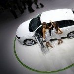Skoda Rapid is pictured during a media preview day at the Frankfurt Motor Show