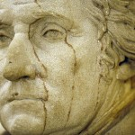 A statue of George Washington, the first president of the United States, is seen near the office of U.S. Speaker of the House John Boehner in the U.S. Capitol building in Washington