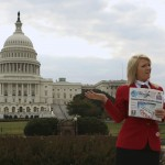 Welch, a member of the Family, Career and Community Leadership of America group, poses in front of the U.S. Capitol in Washington