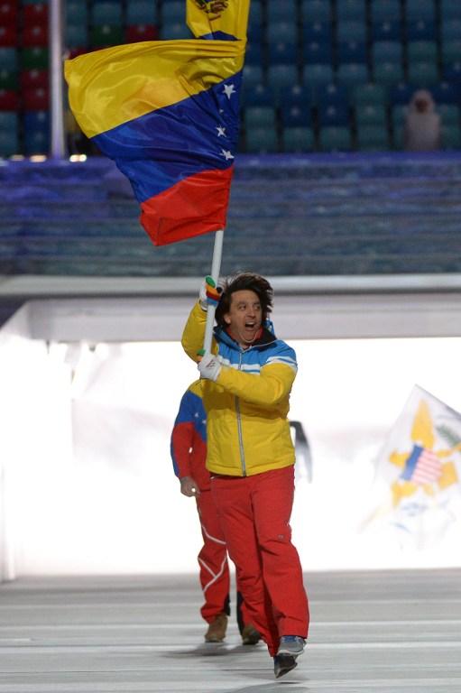 acn 000 DV1628934 Así desfiló el único venezolano en los Juegos Olímpicos Sochi 2014 (+Fotos)