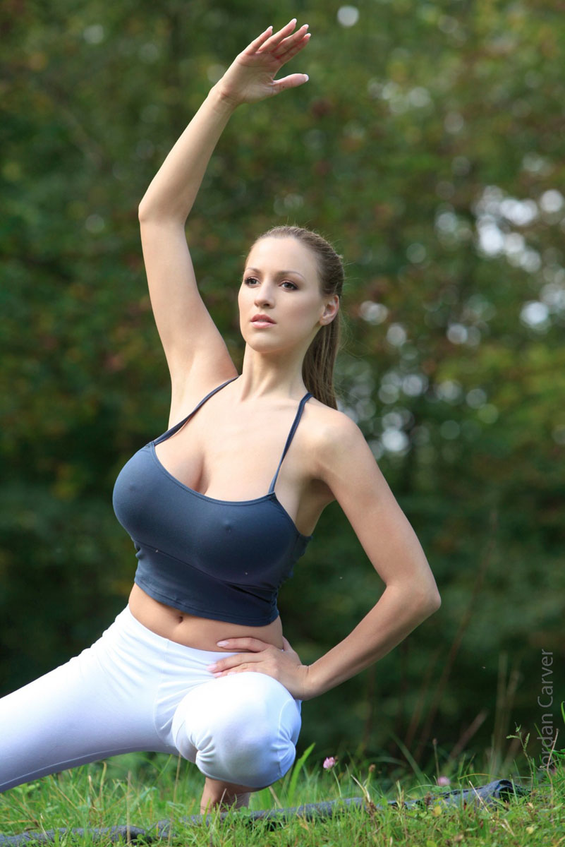 big tits yoga