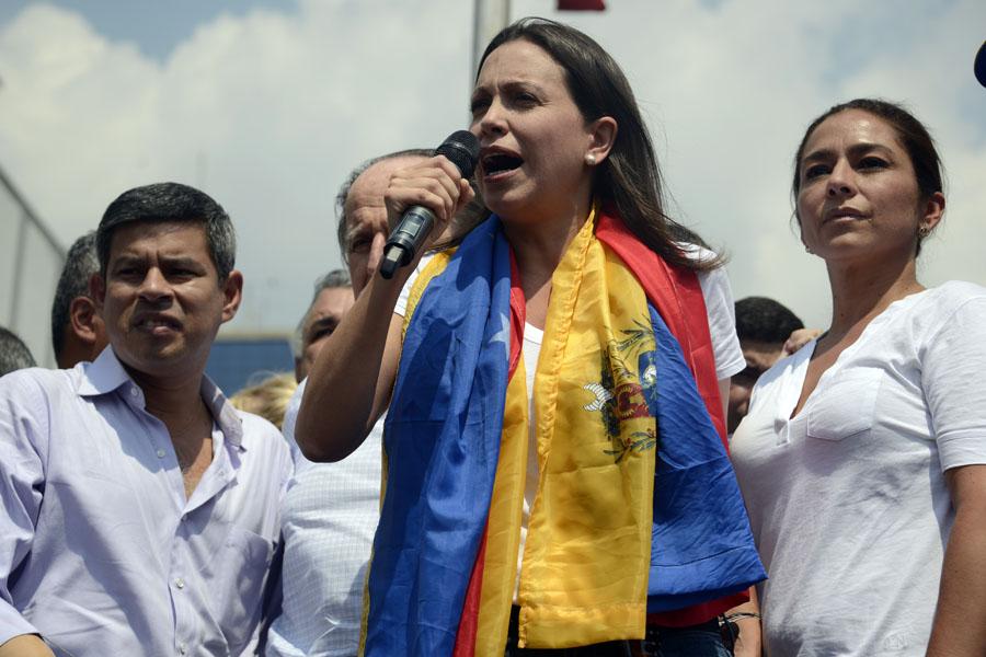 VENEZUELA-PERU-POLITICS-OPPOSITION-PROTEST