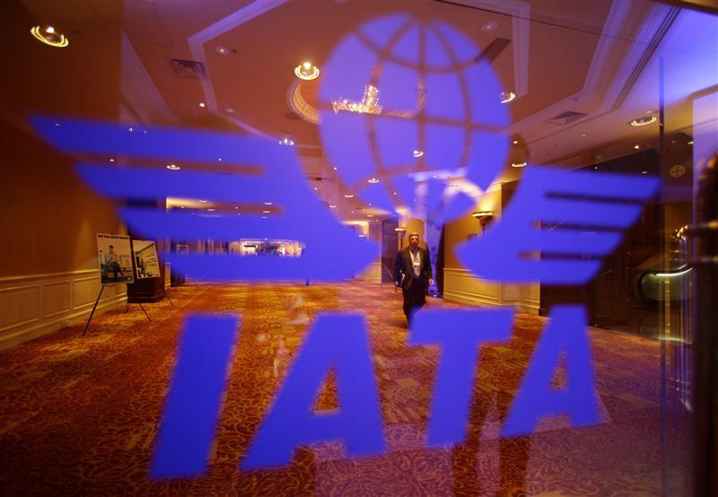 El logo de la Asociación Internacional de Transporte Aéreo (IATA) (Foto Reuters)