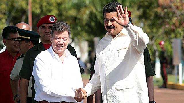 Santos recibe a Maduro con la atención puesta en el contrabando ...