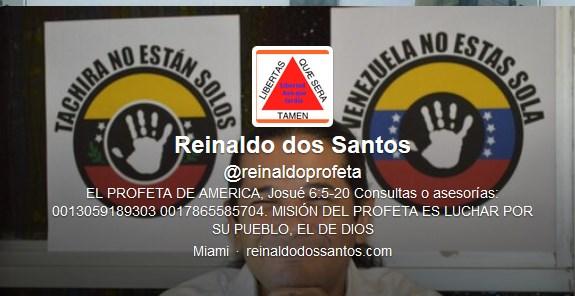 """brasileño, Reinaldo Dos Santos, mejor conocido como """"el profeta ..."""