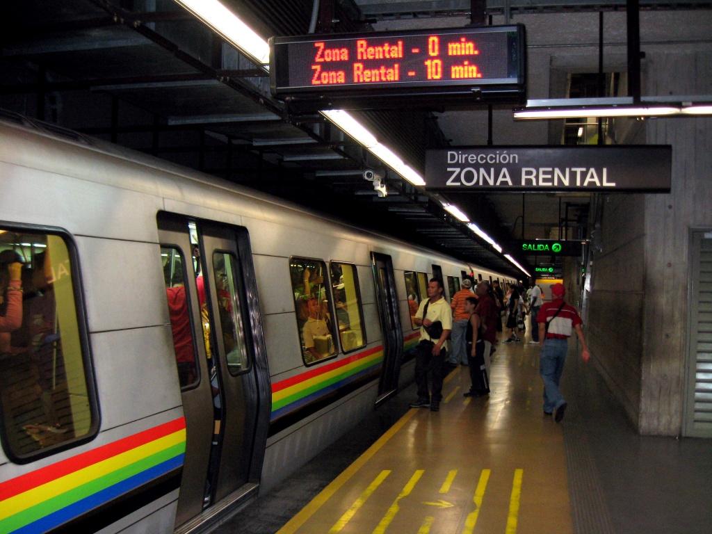 suspendido el servicio en cuatro estaciones del metro de caracas