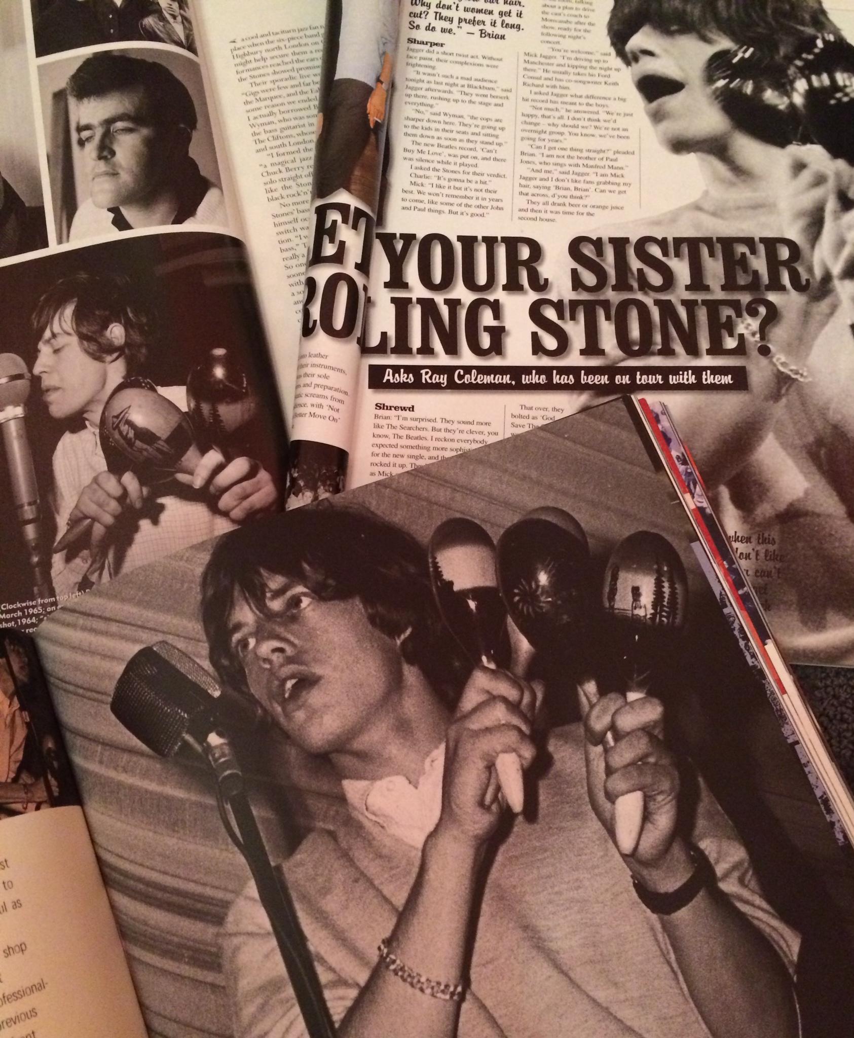 Mick Jagger maracas