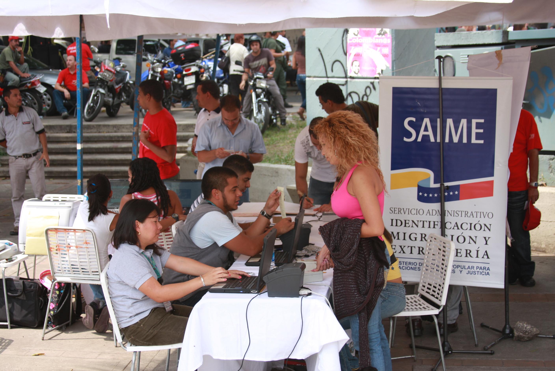 El Saime activó este sábado en Caracas jornada de cedulación