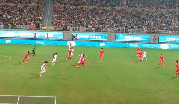 Venezuela pierde 3-0 ante China en final de fútbol de Nanjing 2014