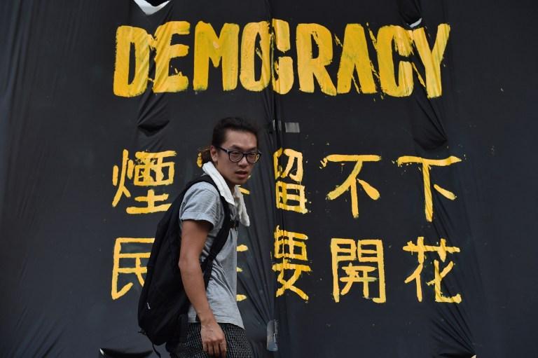 China vigila manifestaciones en Hong Kong y teme contagio de fiebre democrática