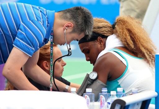 Serena Williams se retiró enferma del Open de Wuhan