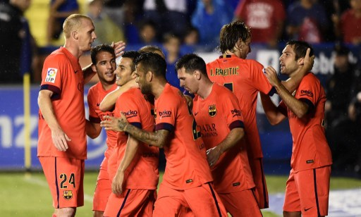 Barcelona refuerza su liderato con goleada en visita al Levante