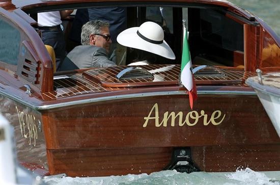 Clooney y Amal Alamuddin se casaron en impactante ceremonia en Venecia