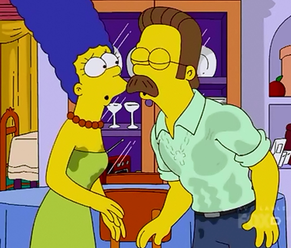 Marge Simpson And Ned Flanders