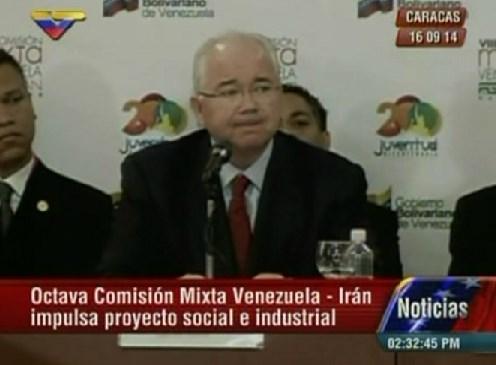 Ramírez establece nuevos acuerdos sociales e industriales con Irán