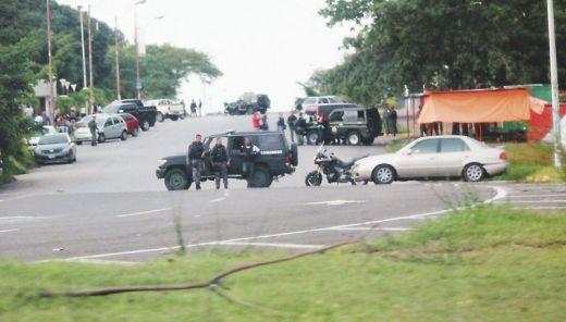 Un despliegue inusual del Sebin en el Palacio de Justicia de Ciudad Guayana con ocasión de la presentación de los sidoristas