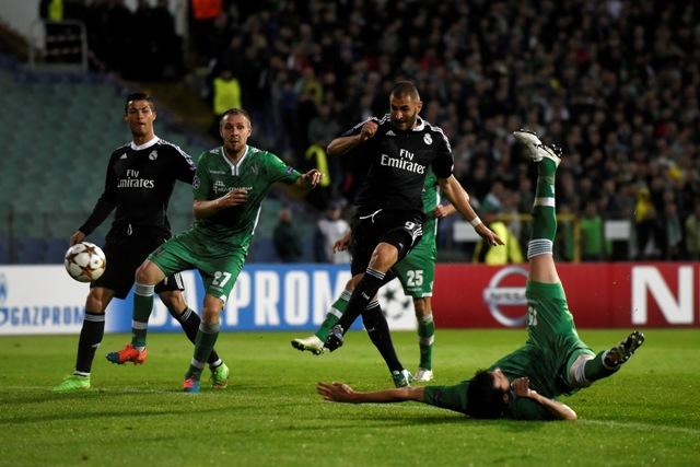 Real Madrid gana 2-1 al Ludogorets en el segundo de la Champions