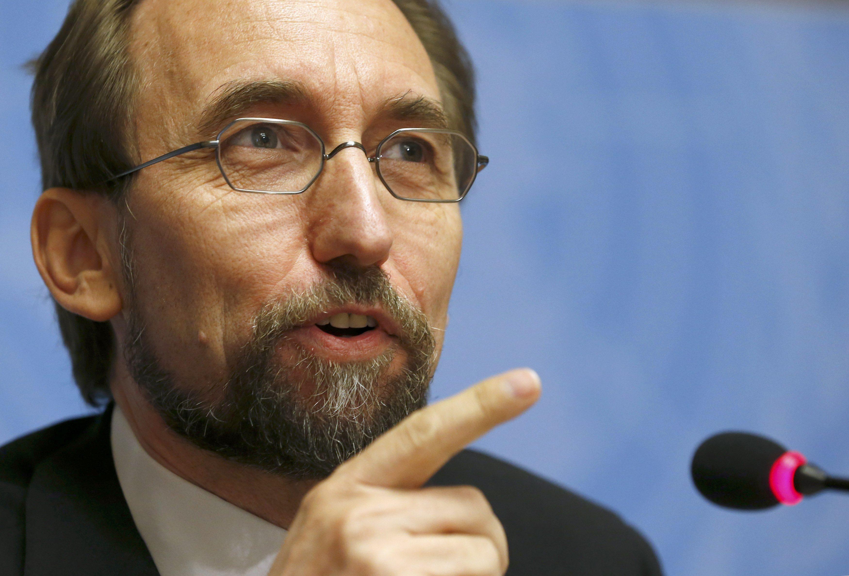 El alto comisionado de Derechos Humanos de la ONU, Zeid Ra'ad Al Hussein (Foto Reuters)