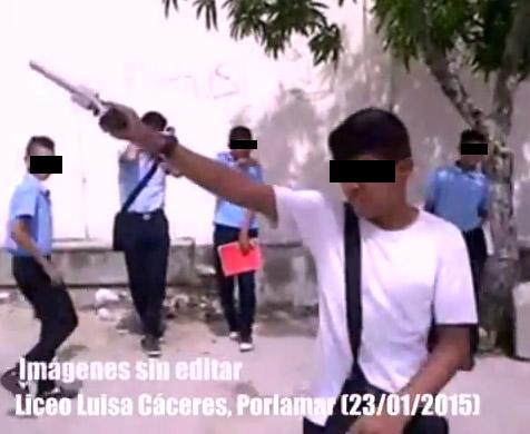 ESCALOFRIANTE VIDEO: Liceistas en Porlamar disparando al aire (vía ...