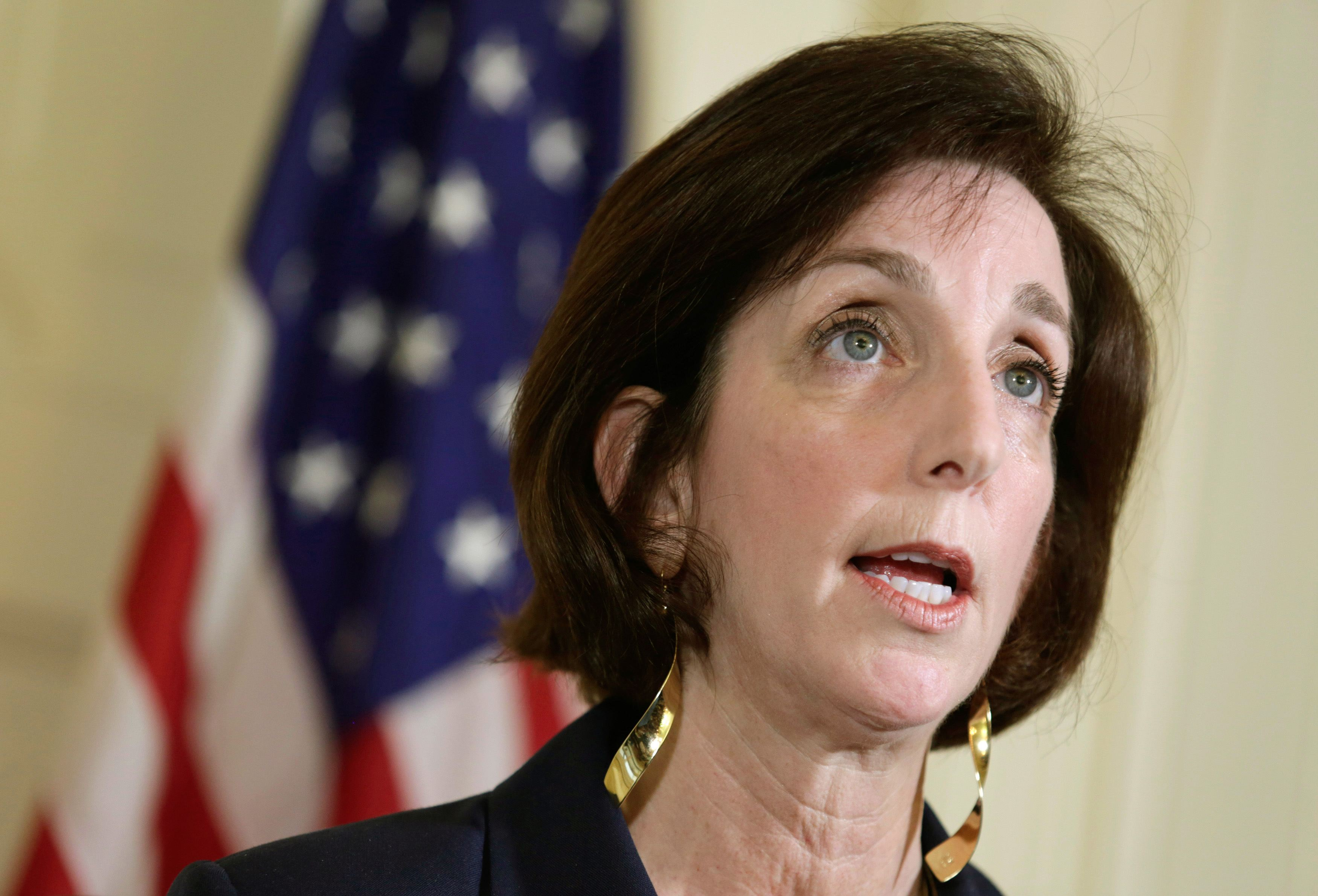U.S. Assistant Secretary for Western Hemisphere Affairs Roberta Jacobson speaks during a conference in Havana in this file photo