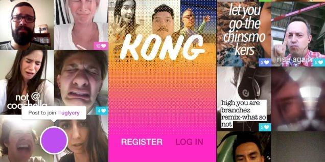Los responsables de Path, aquella red social olvidada que intentaba una experiencia similar a la unión de Facebook, Foursquare y Pinterest, acaban de lanzar Kong, una nueva app basada en selfies animadas. Sí, selfies como GIFs. La hemos probado, y que Dios se apiade de nosotros. La verdad es que Kong puede ser bastante divertida, sobre todo para los que disfrutamos los GIFs. En esta ocasión podemos usar la cámara frontal de nuestro móvil para hacer vídeos cortos sin audio en cualquier momento u ocasión que lo merezca, desde un concierto o evento deportivo, hasta cuando tomamos café y sentimos