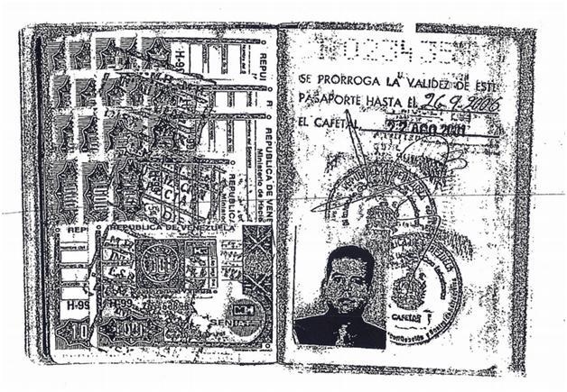 """Copia del pasaporte diplomático que portaba el venezolano Gabriel Ignacio Gil Yánez y que fue consignado ante Banca Privada de Andorra (BPA). En el documento se lee la acreditación como """"asesor especial del ministro de Finanzas""""."""