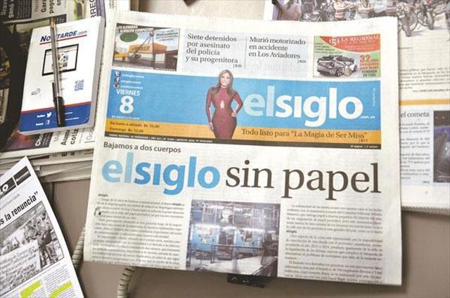 El diario El Siglo, del estado Aragua, anunció ayer que reducirá el ...