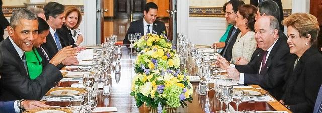 Los presidentes Obama y Rousseff durante la cena de honor en la Casa Blanca / Brasil247
