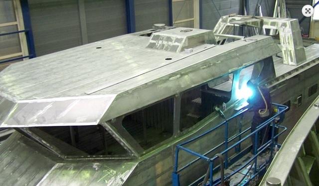 Contrucción del Caricare PG-52 en los astilleros Van Noorloos Cascobouw B.V. en Holanda en 2014 / vannoorloos