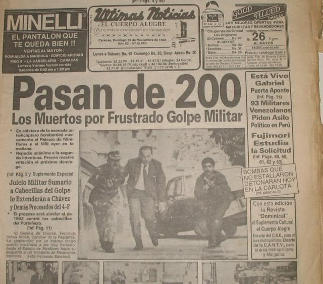 Venezuela/ Colombia y su conflicto interno - Página 7 Golpe-27-denoviembre1992