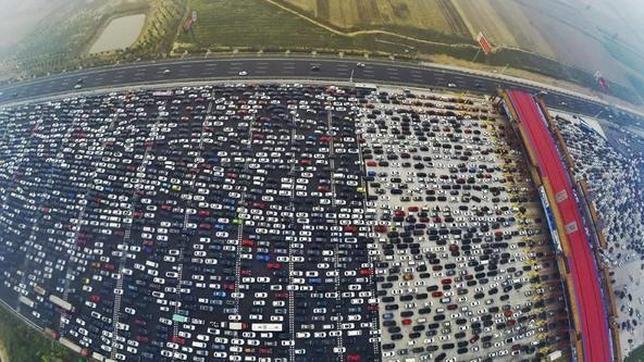 750 millones de personas se desplazaron por la semana nacional festiva. Foto: Europa Press