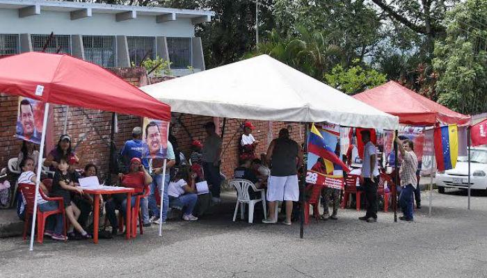 Simulacro del Psuv en Táchira // Foto cortesía