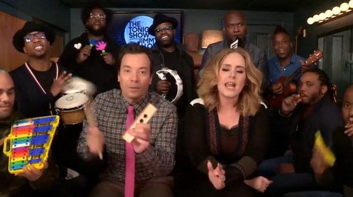Hello de Adele en The Tonight Show de Jimmy Fallon
