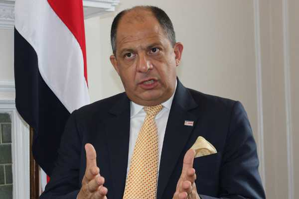 El presidente de Costa Rica, Luis Guillermo Solís. Archivo