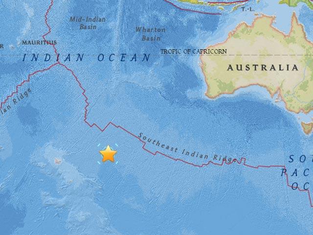 SISMO 7,1 GRADOS SACUDE EL SUR DEL OCEANO INDICO SIN ALERTA DE TSUNAMI