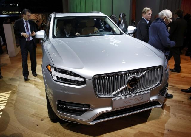 La Volvo XC90, ganadora del Premio Camioneta del año en el Salón Internacional del Automóvil, en  Detroit, Michigan. Foto: Reuters/Gary Cameron