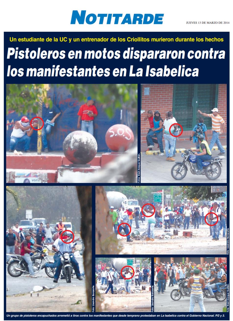 Foto: Portada diario Notitarde (13 de marzo de 2014)