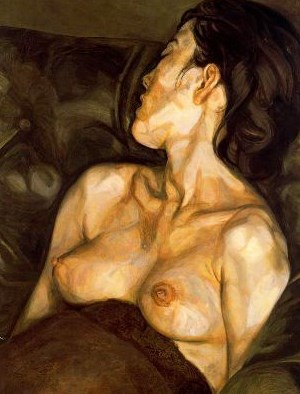 """""""Pregnant Girl"""", lienzo de Lucian Freud"""