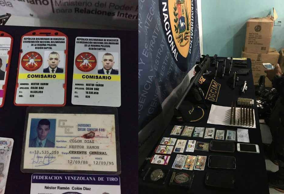 credenciales y armas