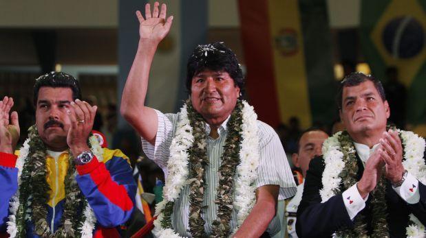 Foto: El presidente de Venezuela Nicolás Maduro y sus homólogos de Bolivia, Evo Morales y de Ecuador, Rafael Correa, en Cochabamba, Bolivia en el 2013. (AP Photo/Juan Karita)